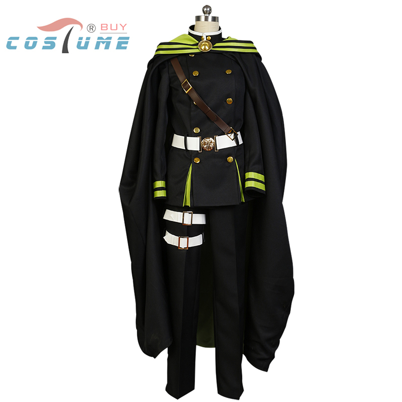 Seraph of the End Yoichi Saotome Uniform Cloak Coat Suit Pants For Men Anime Carnaval Halloween Cosplay Costumes For Women New