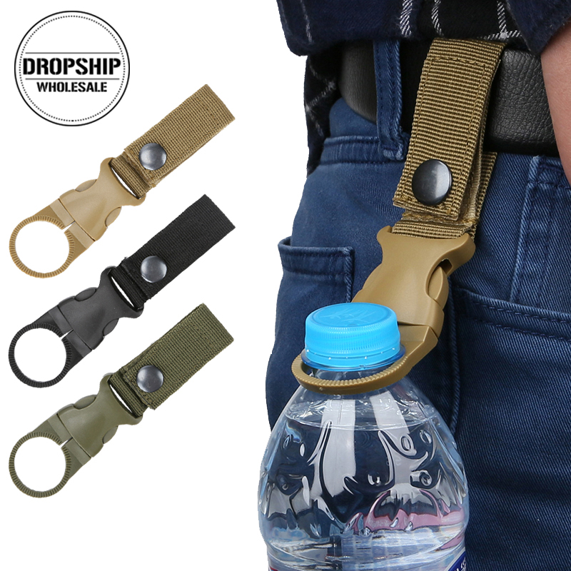 2PCS Portable Bottle Hanger Carabiner Climbing Hiking Universal Backpack Belt Hook EDC Quickdraw Buckle Outdoor Survival Gear