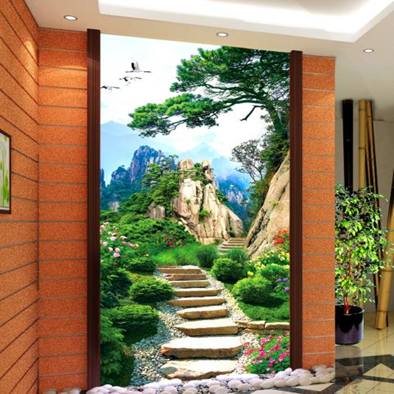 Chinese Nature Landscape Wall Murals 3D Wallpapers for Living Room Hallway Living Room Walls Papers Home Decor Painting Trees shinehome sunflower bloom retro wallpaper for 3d rooms walls wallpapers for 3 d living room home wall paper murals mural roll
