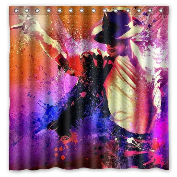 michael jackson Shower Curtain Waterproof Moldproof Polyester Fabric Bath Curtain Drop Ship Bathroom Decor 180*180cm
