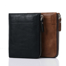 New Wallet Men Soft PU Leather wallet with removable card slots multifunction purse male clutch top quality
