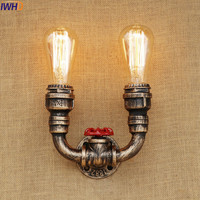IWHD Edison Retro Vintage Wall Light Fixtures Antique Water Pipe Wall Lamp Loft Industrial Lighting Sconce Lamparas De Pared