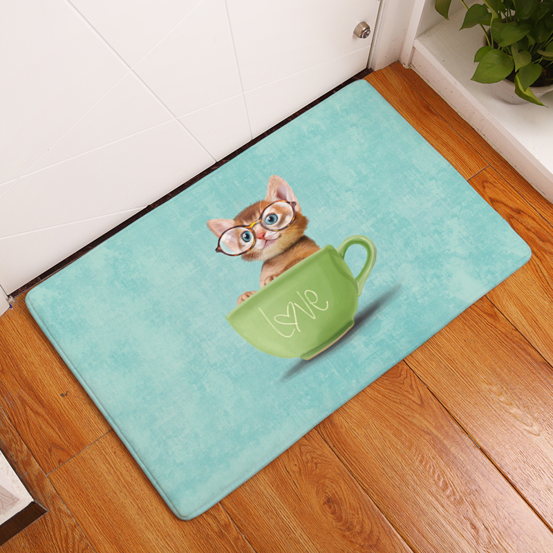 2017 New Anti-Slip Carpets Cartoon Lovely Animal Print Mats Bathroom Floor Kitchen Rugs 40x60or50x80cm