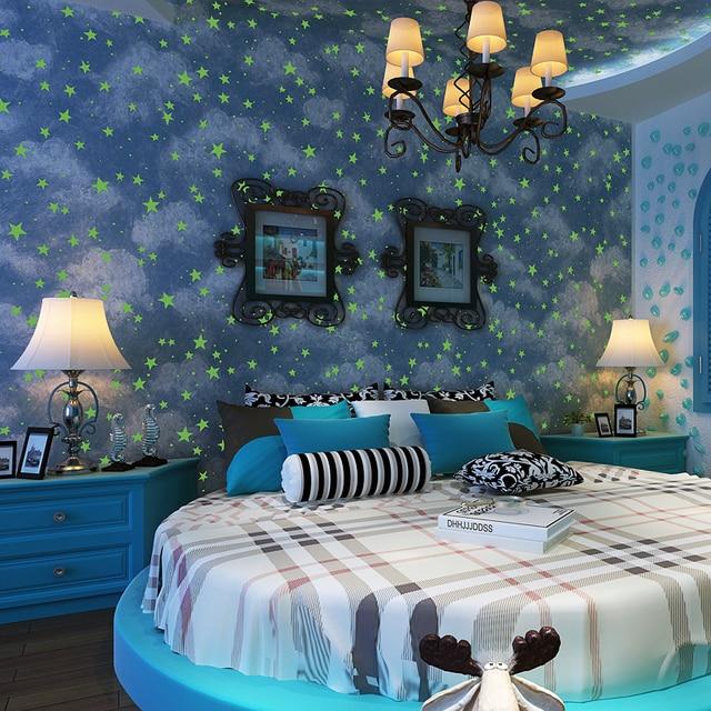 0 53x10 meters children s room starry sky pattern wallpaper men and girls  bedroom ceiling study room. 0 53x10 meters children s room starry sky pattern wallpaper men