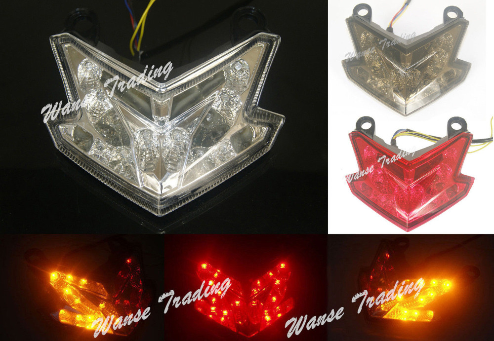 For KAWASAKI Z800 ZX6R ZX636 ZX 6R 636 2013 2014 2015 Rear Tail Light Brake Turn Signals Integrated LED Light цена