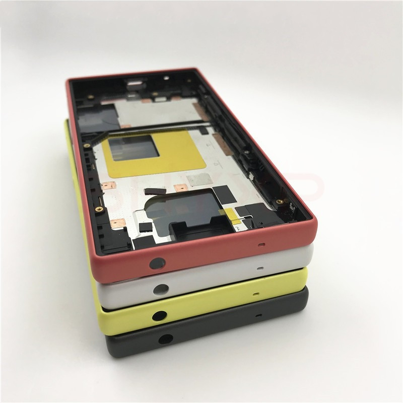 Original For Sony Xperia Z5 Compact Middle Frame Bezel Front Chassis Plate Housing E5803 E5823 For Sony Z5 Compact Middle Frame