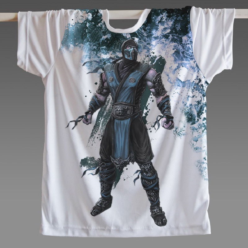 2018 Famous CLASSIC Game Mortal Kombat Women Men T Shirt Short Sleeve SUB-ZERO Scorpion Skateboarding T-Shirts plus Costumes