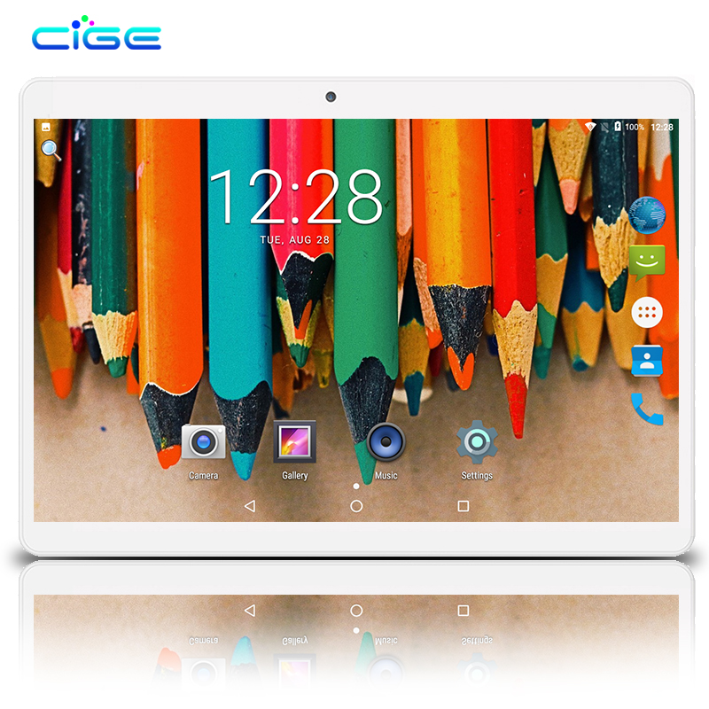 CIGE 10.1 inch Android 7.0 Tablet PC 4GB RAM 32GB ROM Octa core Tablette Built-in 3G 4G LTE Phone Call Dual SIM Tablets WIFI free shipping 10 inch tablet pc 3g phone call octa core 4gb ram 32gb rom dual sim android tablet gps 1280 800 ips tablets 10 1