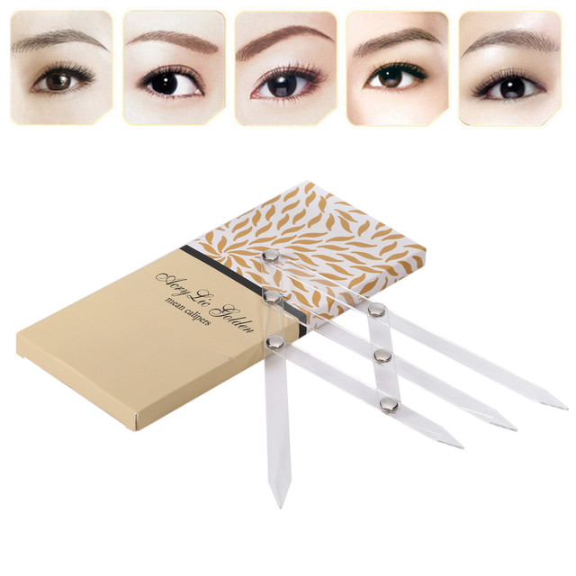 1 Pc Acrylic Permanent Makeup Ruler Eyebrow Shaping Stencil Tools Ratio Divider Ruler Reusable Eyebrow Ruler Tool Measures Hot 1