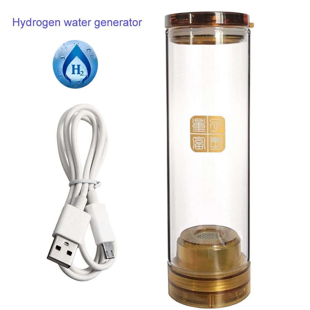 Glass implanted quantum Hydrogen Rich cup 600ML USB Rechargeable Wireless transmission, touch switch hydrogen water generator цена