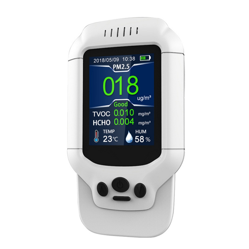 PM1 0 PM2 5 PM10 HCHO TVOC Detector with PM2 5 Mask Temperature Humidity Meter Formaldehyde