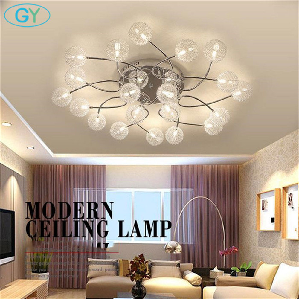 modern lutres LED lamp G4 LED Aluminum wire ceiling lights living room bedroom home ceiling Lighting remote control lustre lamp