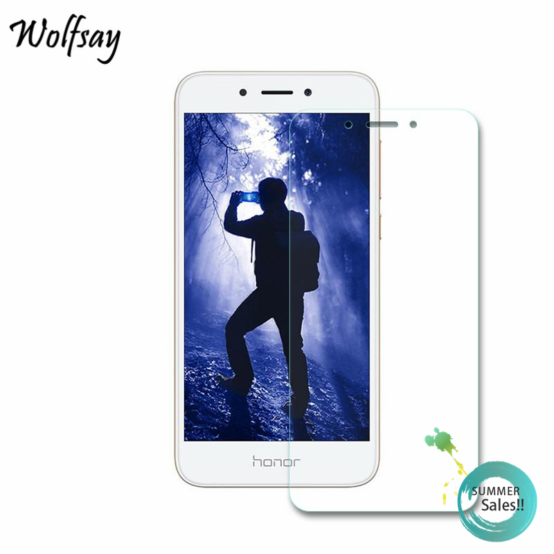 Galleria fotografica 2pcs Glass Huawei Honor 6A Screen Protector Tempered Glass For Huawei Honor 6A Glass Honor 6A Protective Film Wolfsay