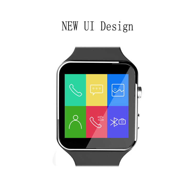 2016 New Bluetooth font b SmartWatch b font X6 Smart Watch Sport Watch For Android Phone
