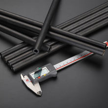 O/D 25mm Hydraulic Tube Round Seamless Steel Pipe Hollow  Piepe for Home DIY Print Black