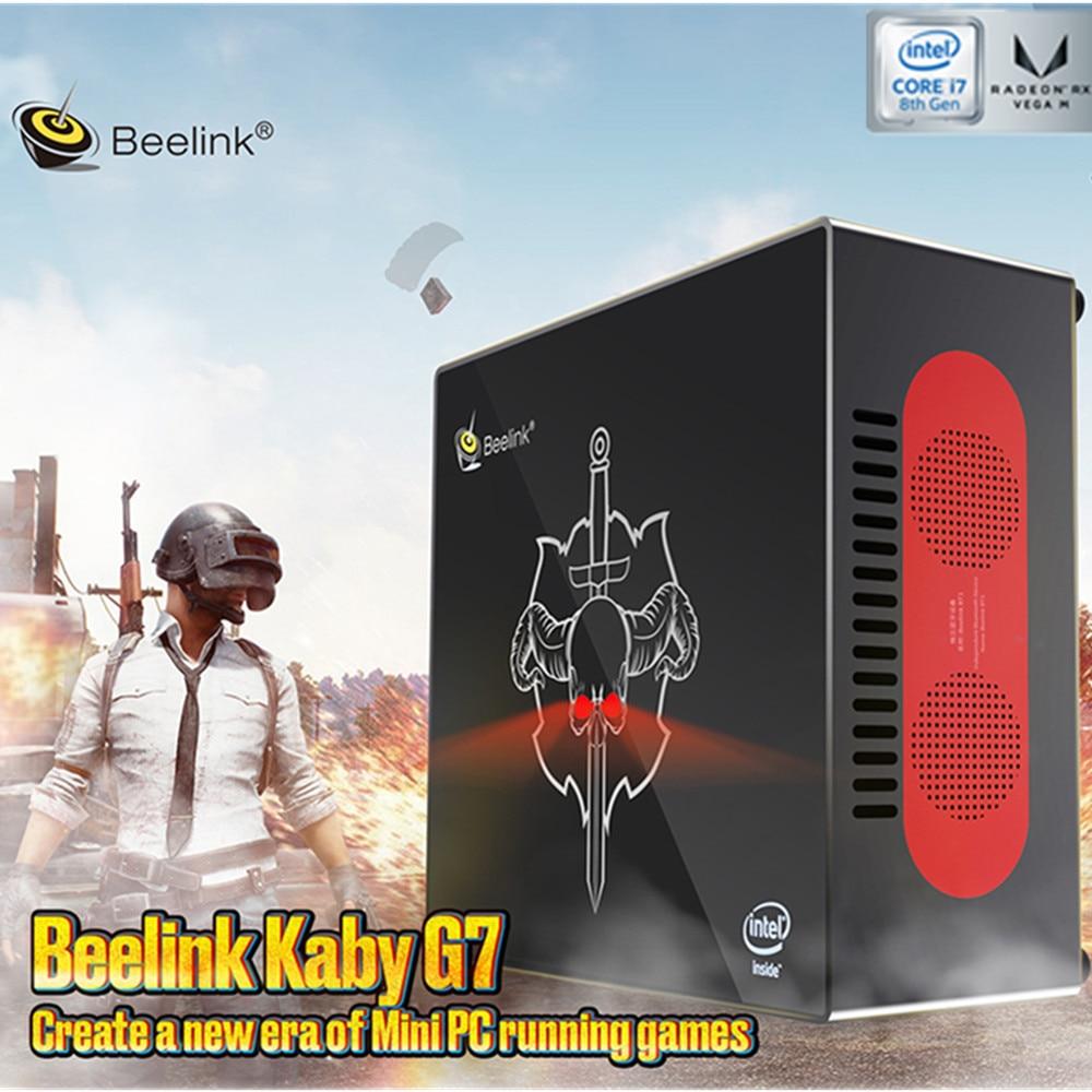 Beelink Kaby G7 I7-8709G Mini PC Intel Kaby Lake I7-8709G Radeon RX Vega GH Graphics Bluetooth Speaker 2.5