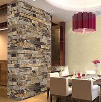 Chinese Embossed Vintage Stone Brick Wallpaper Modern Wall Paper W531