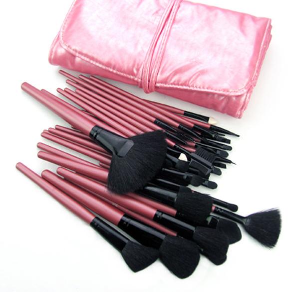 32 Unidades de Color Rojo/Negro Accesorios de Maquillaje Pinceles Herramientas Set Maquillaje Profesional Fundación Brush Sets y Kits de Alta Calidad