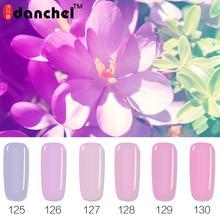 Danchel 12 Colores Rosa Púrpura Serie LED ULTRAVIOLETA Del Clavo Pulimento Del Gel Lak Largo Pasado Gel Gel Barniz Gelpolish Vernis Imprimación Semi Permanente