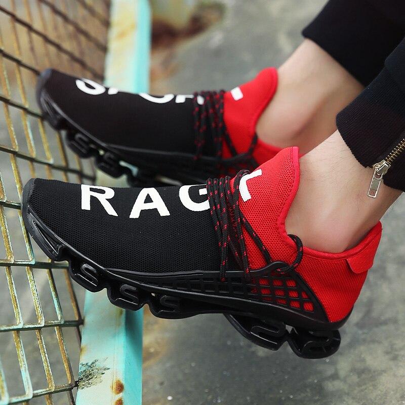 2018 Hommes de Sport de Course Chaussures Couples Dentelle-up Exercice Couple Sneakers Respirant Maille Lettre Chaussures Taille 36- 48 Sneakers pour Hommes