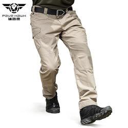 Брендовые летние непромокаемые мужские брюки, хлопковые армейские тренировочные повседневные военные брюки, брюки-карго, тактические