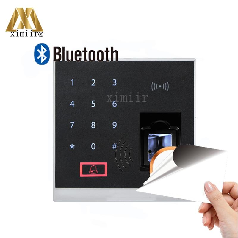 Système biométrique de contrôle d'accès d'empreinte digitale de X8-BT de ZK avec la fonction de Bluetooth et le lecteur de carte d'ic de 13.56 MHZ MF