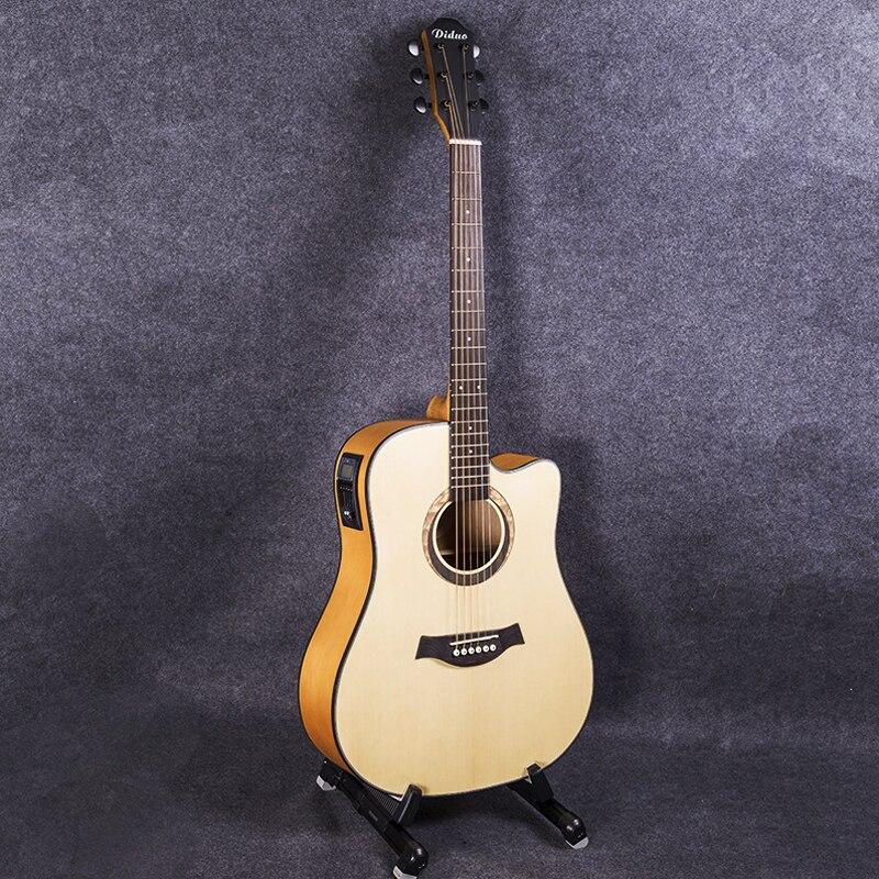 41 pouces guitare 6 cordes Folk Pop guitare pick-up électrique guitare acoustique en bois massif Guitarra guitare professionnelle AGT62