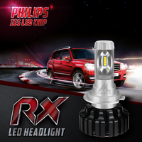 Xenplus 2Pcs H4 H7 LED Car Bulbs 12V Automobiles Headlight ZES Chip 8000LM 6500K Super Bright