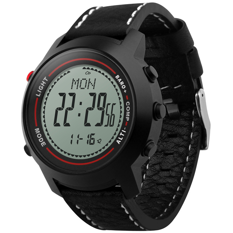 Для мужчин спортивные военные часы внутренней погода высота Давление Температура компас Водонепроницаемый цифровые часы Relogio Masculino