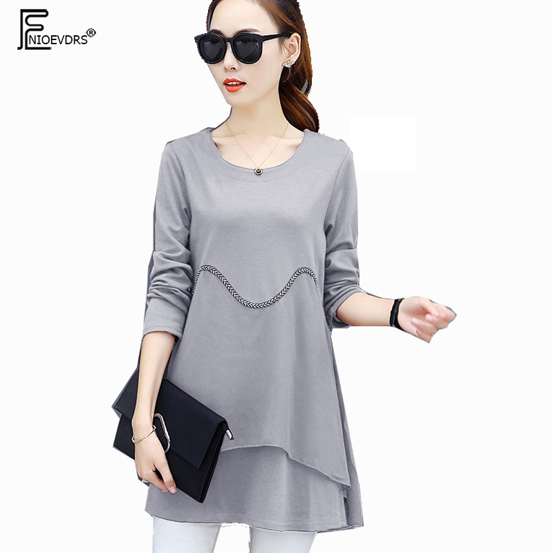 Casual   Blouses     Shirts   New Female Design Clothing Tunic Style Women Fashion Long Sleeve Patchwork Black Red Gray Peplum Long Tops
