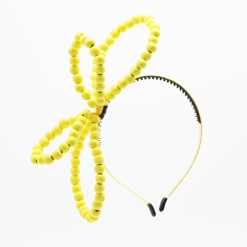 New summer colorful wood beads bow with wire handmade large bow cute hairbands beads bow hair accessories handmade new solid maple wood brown acoustic violin violino 4 4 electric violin case bow included