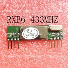 50pcs X RXB6 433 MHz Superheterodyne โมดูลรับสัญญาณไร้สายจัดส่งฟรี