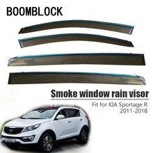Высокое качество, 4 шт. козырек от дождя и дыма для Kia Sportage R 2013 2012 2011 вентиляционные аксессуары для защиты от солнца