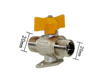 free shipping 2pieces/lot  G 20mm Stainless steel Gas Angle Ball Valve, Flare, Heavy Duty