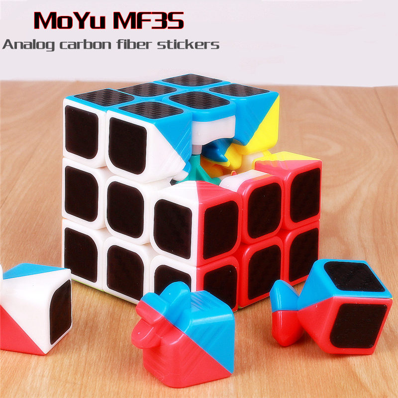Moyu Mf3s 3x3x3 Magic Cube Analog Carbon Fiber Stickers Speed Cubes Professional 3x3x3 Puzzle Cubes Educational Toy For Children