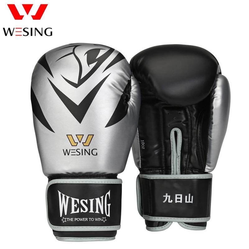 Wesing Sports Eyes On Boxing Gloves for Men Exercise Muaythai Training Gloves