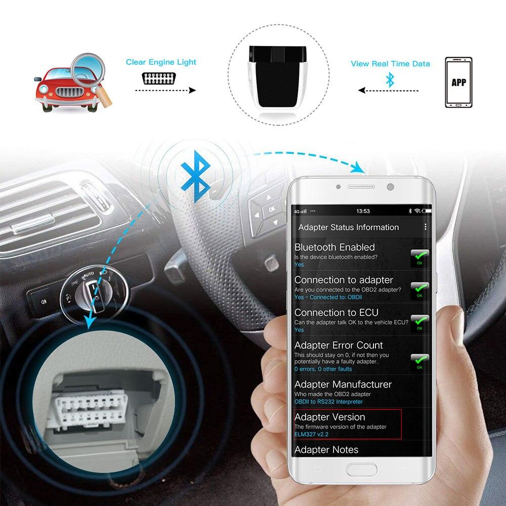 Image 2 - ELM327 V2.2 PIC18F25K80 ELM 327 V2.2 OBD OBD 2 Bluetooth 4.0 For Android/IOS v1.5 OBD2 car diagnostics scan tool obd2 scannerCode Readers & Scan Tools   -