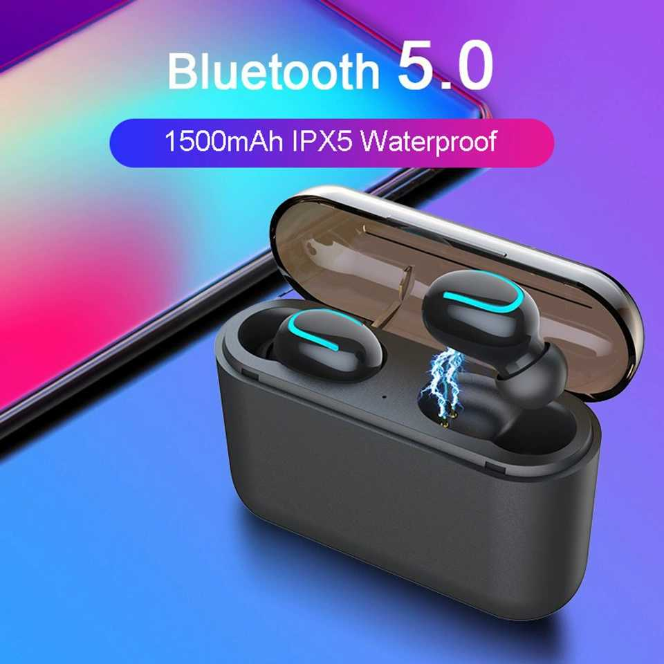 Bluetooth 5 0 Mini Bluetooth Handsfree Headset TWS Q32 Stereo Wireless Sports Earbuds Game iOS Android Phone Music In Ear HBQ in Bluetooth Earphones Headphones from Consumer Electronics