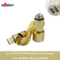 5V 3 1A 2 Port Mini Dual USB Charger Adapter Quick Charging 2 In 1 Micro