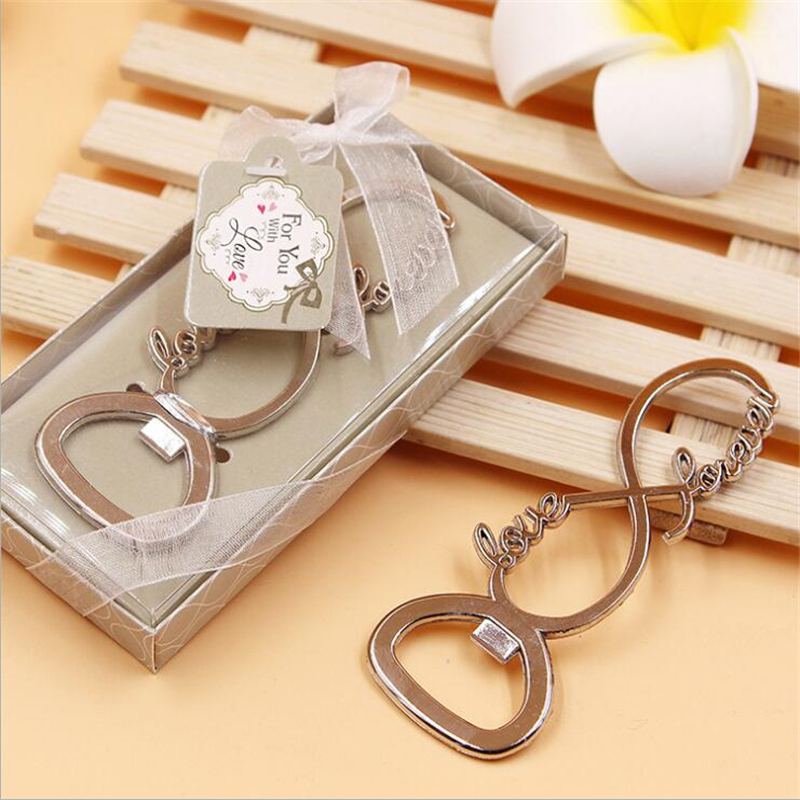 Top 100 Wedding Gifts: 100Pcs Casamento Love Forever Bottle Opener Wedding Gifts