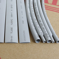 5 M/Lot Gris-2 MM 4 MM 6 MM 8 MM 10 MM 12 MM Assortiment 2:1 Polyoléfine Thermorétractable Tube Tube Gaines Câble Manches