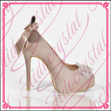 Aidocrystal peep toe white lace butterfly handmade satin material women 14cm high heel shoes for wedding
