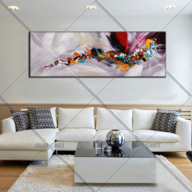 Painted Walls Colorful Room Design: Aliexpress.com : Buy Hand Painted Long Rectangular