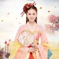 Chino Tradicional Hanfu Traje de Juego de Ordenador de Los Registros de Los Tres Reinos Rosa Estética Hanfu Traje de Hadas para Las Mujeres