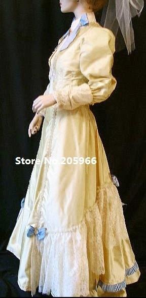 Or Et Victorienne Custom Costumewith S Costume De 1890 Veste Marche Robe Événement Made Vintage Jour YpqpC6xUw