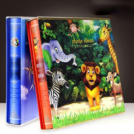 600 ピースベビーメモリーフォト挿入画像子供ジャーナル写真撮影本保持 5 6 7 インチ写真かわいいライオン動物カバー  グループ上の ホーム&ガーデン からの フォトアルバム の中 3