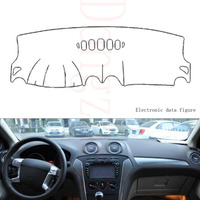Dongzhen Fit For Ford Mondeo 2004 To 2012 Car Dashboard Cover Avoid Light Pad Instrument Platform