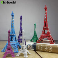 13cm-25cm 1Eiffel Tower Decoration with Diamond Model Metal Iron Family Bedroom Desk