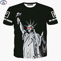 Mr.1991 América Estátua da Liberdade de skate boy impresso 3D t-shirt do verão do Menino estilo de roupas para crianças 11-19 anos camiseta DT2