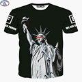 Mr.1991 América skate boy impreso Estatua de la Libertad del Muchacho 3D estilo de la camiseta del verano ropa de los niños 11-19 años camiseta DT2